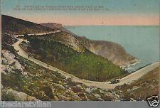 Route de la Grande Corniche entre Nice et Eze  _ Old Unposted Postcard