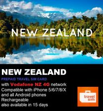 New Zealand Travel - 10 days Prepaid data SIM card 4G/LTE Vodafone Network