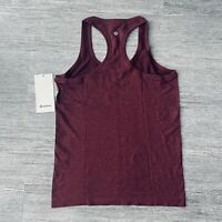Lululemon Swiftly Tech Racerback 2.0 Tank Top Women's Size 8 Cassis/Chianti