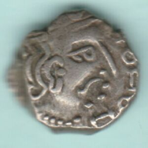 ANCIENT INDIA GUPTA DYNASTY 415-455 AD KUMARGUPTA I SILVER DRACHMA HARD TO FIND