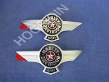 Harley Davidson softail touring dyna electra glide gas fuel tank emblems badges