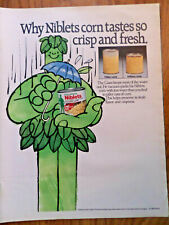 1982 Jolly Green Giant Ad Niblets Corn Tastes so Crisp & Fresh