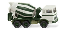 Wiking 068203 - 1:87 - Cement Mixer (MB 1620) - Grey White/Green - NEW