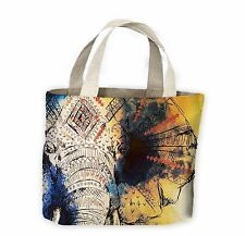 Elephant Painting Tote Shopping Bag For Life - Elephants Africa