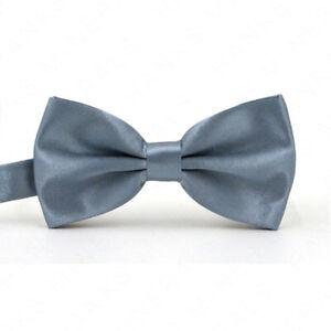 Bowtie Mens Adjustable Formal Wedding Party Necktie Bow Tie Solid Color Tuxedo