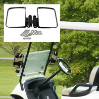 Golf Cart Mirrors-Universal Folding Side View Mirror For Golf Carts Club NEW UK