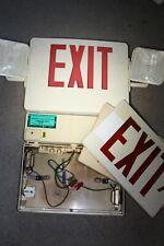 2pc Vintage Emergi Lite Exit Signs Commercial Emergency Side Lights