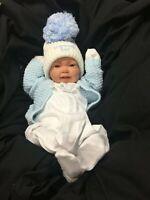 REBORN BABY BOY FIRST REBORN SPANISH STYLE OUTFIT HUGE POM POM  - 0125 SU