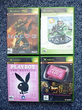 XBOX GAMES X 4 Halo 2, Halo Combat Evolved, Playboy Mansion & Fight Club