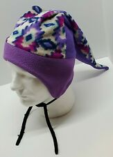 Vtg The Mad Hatter of Jackson Hole Funky Purple Winter Ski Snowboard Jester Hat