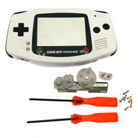 Super Mario White Shell Case Black Buttons for Nintendo Game Boy Advance GBA