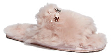 COACH Zoe Slippers Pink Size 5 MSRP: $125.00
