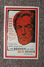 The Masque of the Red Death Lobby Card Movie Poster Vincent Price EdgarAllan Poe