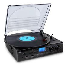 NEW HI-FI HOME STEREO TURNTABLE SOUND SYSTEM FM RADIO USB SD LP RECORD PLAYER