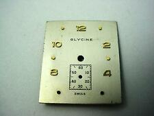 Glycine Pearl Vintage Watch Dial 23.5mm by 19.97mm Subdial 4.7mm Gold Numerl Mrk