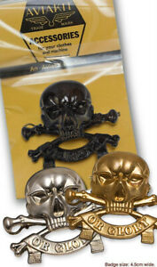 Death or Glory badge in Silver / Gold / Bronze by Aviakit Lewis Leathers