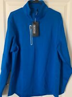 NWT Mens OGIO ENDURANCE Fulcrum 1/4-Zip Pullover Electric Blue Size M, L