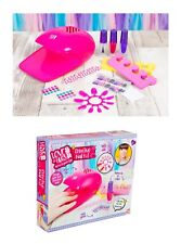 Manicure Kit Set For Kids Creative Nail Dryer Kit Play Set Gift 6 Years+