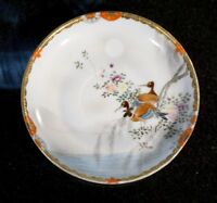 Stunning Satsuma Antique Japanese Hand Painted Eggshell Porcelain Saucer