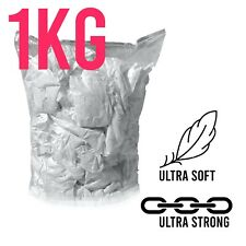 1kg Lint Free White Cotton Cleaning Polishing Cloths Rags Wipers - Bag Of Rags