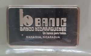 Nicaragua bank UK Hallmark Sterling Silver Ingot 40grms Minted John Pinches 1975