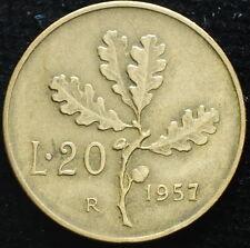 1957  Repubblica Italiana   20   lire  gambo  largo  BB