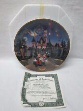 "Walt Disney Bradford Exchange "" Sleeping Beaty Castle "" 1995 COA Plate"