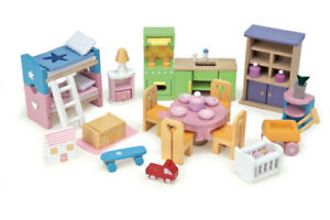 NEW Le Toy Van Deluxe Starter Furniture Set Wood Doll House