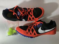 Nike Zoom Rival M 8 Track Shoes Size 12 Black Hyper Orange/Blue 806555 804 New