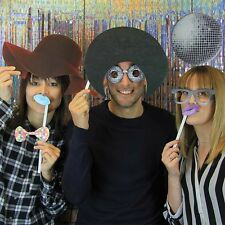 Party Disco Photo Booth Backdrop And 21 Props Fun Pictures