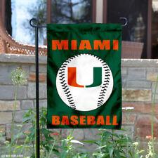 Miami Canes Baseball Garden Flag