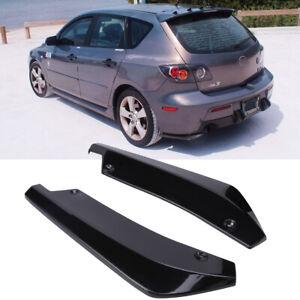 For Mazda 2 3 5 6 CX-3 CX5 CX-7 Rear Bumper Lip Diffuser Splitter Canard Spoiler