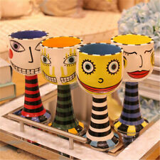 1PCS Hand Painted Ceramic Wine Glass Champagne Glass Goblet Coffee Mug Cup