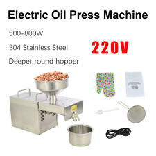 220V Stainless Steel Automatic Oil Press Extraction Machine for Peanuts Rapesee