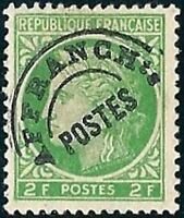 "FRANCE PREOBLITERE TIMBRE STAMP N° 92 "" TYPE CERES 2F VERT JAUNE "" NEUF x TB"