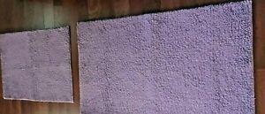 PURPLE MICROFIBER BATH RUGS SET OF 2