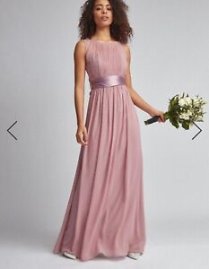 Dusky Pink rose Bridesmaid Dress.