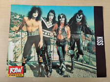 More details for kiss - vintage poster from raw magazine 1991 - gene simmons - rare