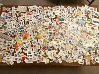 Qty.500 VINTAGE POSTAGE STAMP MIXED LOT -World Stamps (Belonged to Grandpa)