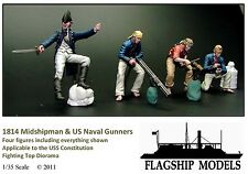 FLAGSHIP MODELS 1/35 US Navy Midshipman & Gunners - 4 figs - (1814)