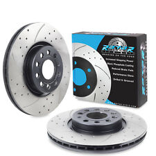 FRONT DRILLED GROOVED 312mm BRAKE DISCS FOR VW GOLF 1.4 1.6 2.0 R TDI TSI GTI