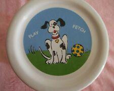 "DOG TREAT/ COOKIE JAR. "" PLAY FETCH"" MARKED "" CUTIE DOG BY RIVIERA VAN BEERS"""