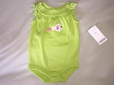NEW 0 3 MONTHS GYMBOREE BODY SUIT FISH GREEN BOWS