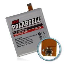 PolarCell Batterie pour LG Google Nexus 5 D821 D820 BL-T9 2450mAh Accu