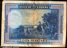 "100 pesetas 1928 Miguel Cervantes "" Encuentro de Don Quijote con lod Duques """
