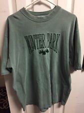 Vintage Delta Winter Park Colorado Green Shirt Men's XL Made In USA