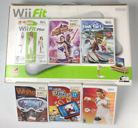 Nintendo Wii Fit Balance Board Brand NEW in Box w/ 6 Bonus Games Bundle Lot Plus
