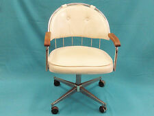 BEST CHIC 80's GASTONE RINALDI  ERA SWIVEL OFFICE ARM CHAIR