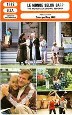 FICHE CINEMA : LE MONDE SELON GARP - Williams,Close 1982 World According to G.