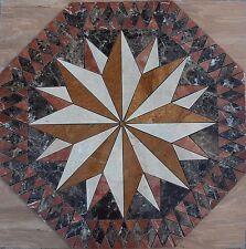 "Marble Travertine Tile Medallion Octagon Design Stone 32"" #4g"